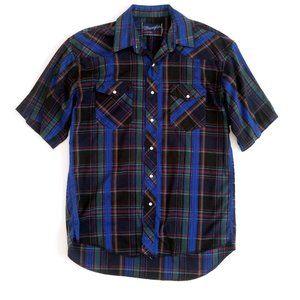 Wrangler Mens XLong Tails Pearl Snap Western Shirt